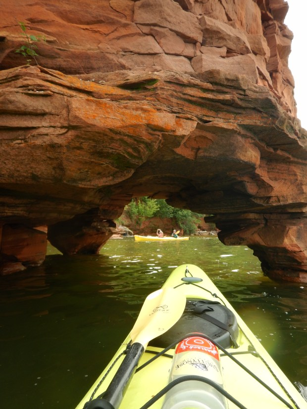 Under an arch, Apostle Islands National Lakeshore, Wisconsin