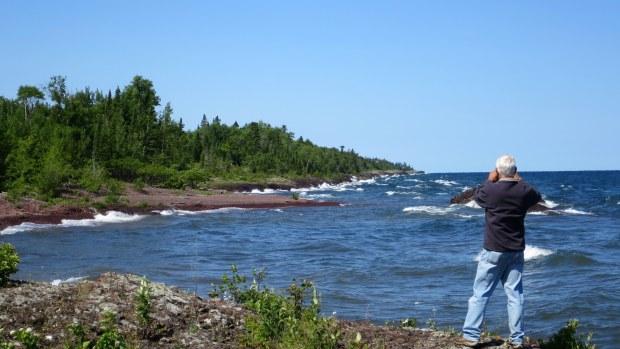 Tom taking photos, Keweenaw Peninsula, Michigan