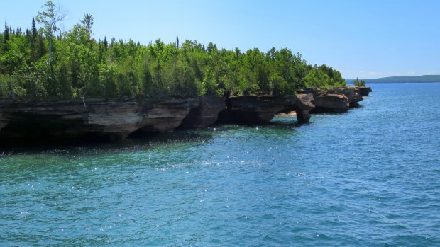 Sea caves, Devil's Island, Apostle Islands National Lakeshore, Wisconsin