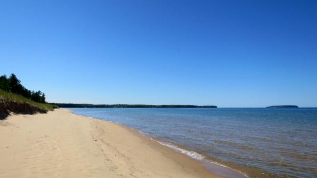 Lake Superior Beach off Route 28, Michigan
