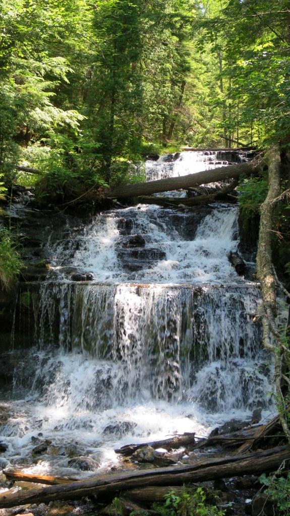 Closeup of Wagner Falls, Michigan