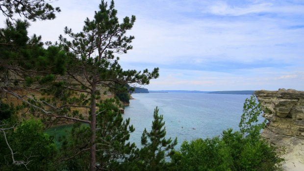 View from atop Miner's Castle, Pictured Rocks National Lakeshore, Michigan