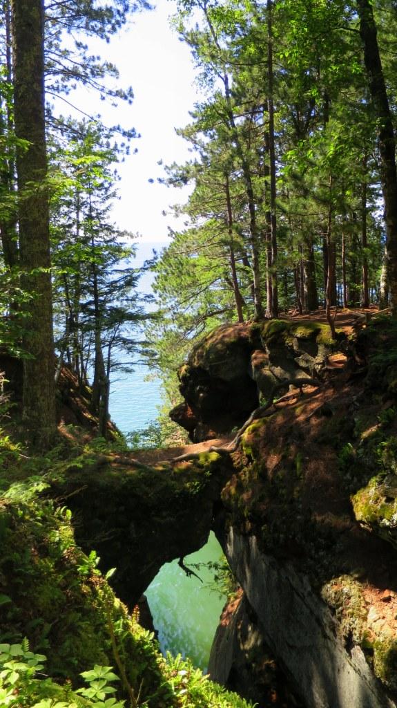 Natural bridge on the Lakeshore Trail, Apostle Islands National Lakeshore, Wisconsin