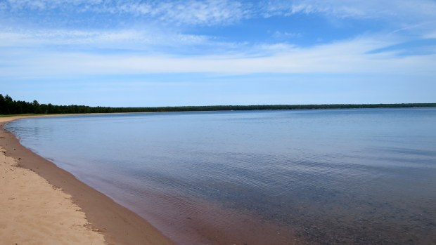 Beach, Big Bay State Park, Madeline Island, Apostle Islands, Wisconsin