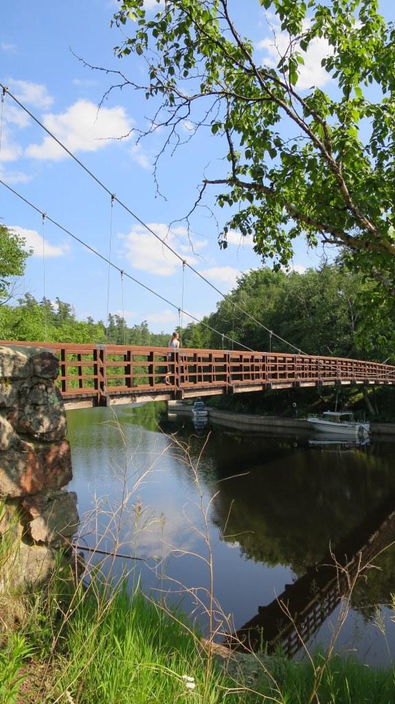 Black River Harbor Suspension Bridge, Ottawa National Forest, Michigan