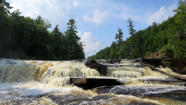 Manido Falls, West River Trail, Porcupine Mountains Wilderness State Park, Michigan