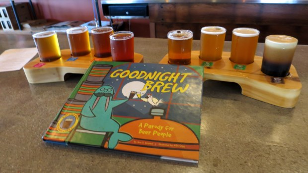 Flights and a parody at Castle Danger Brewery, Two Harbors, Minnesota