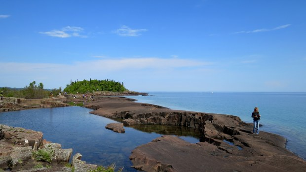 Walking back from Artists' Point, Grand Marais, Minnesota