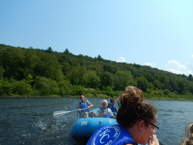 Water fight, Delaware River, Pennsylvania/New York