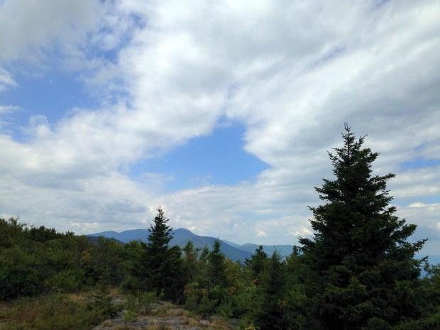Hiking across North Mountain, Catskills, New York