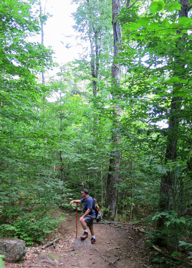 Robert on Snowy Mountain Trail, Adirondacks, New York
