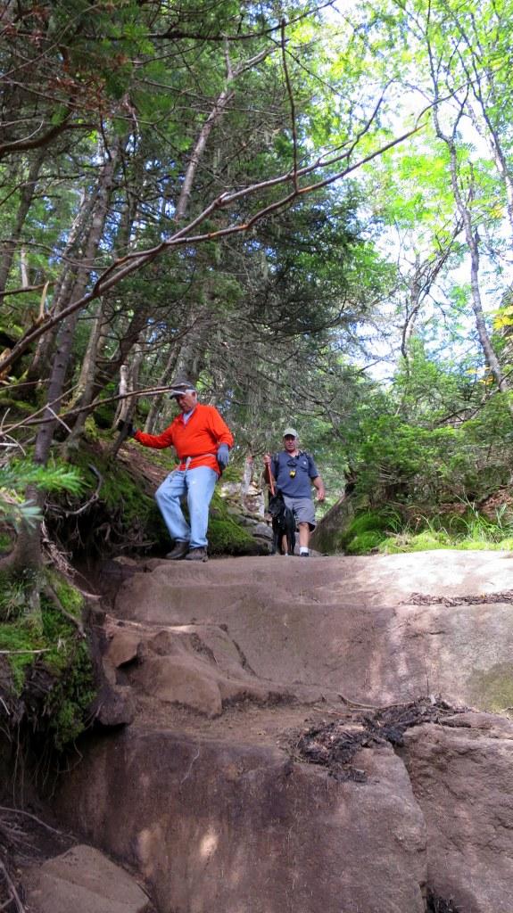 The descent, Snowy Mountain Trail, Adirondacks, New York
