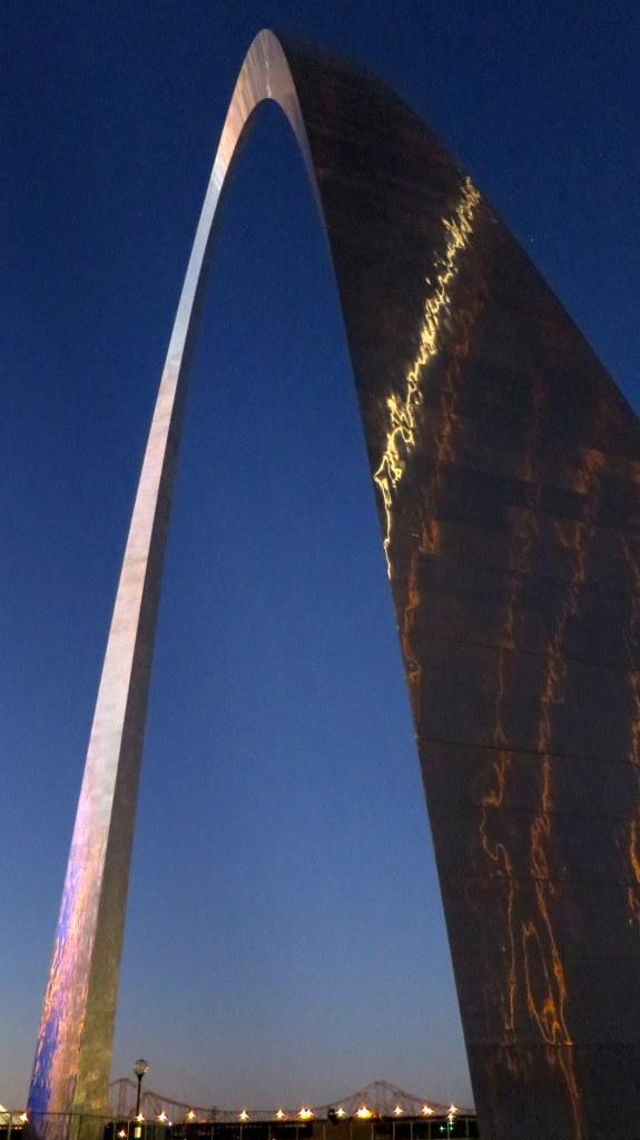 Gateway Arch at twilight, St. Louis, Missouri