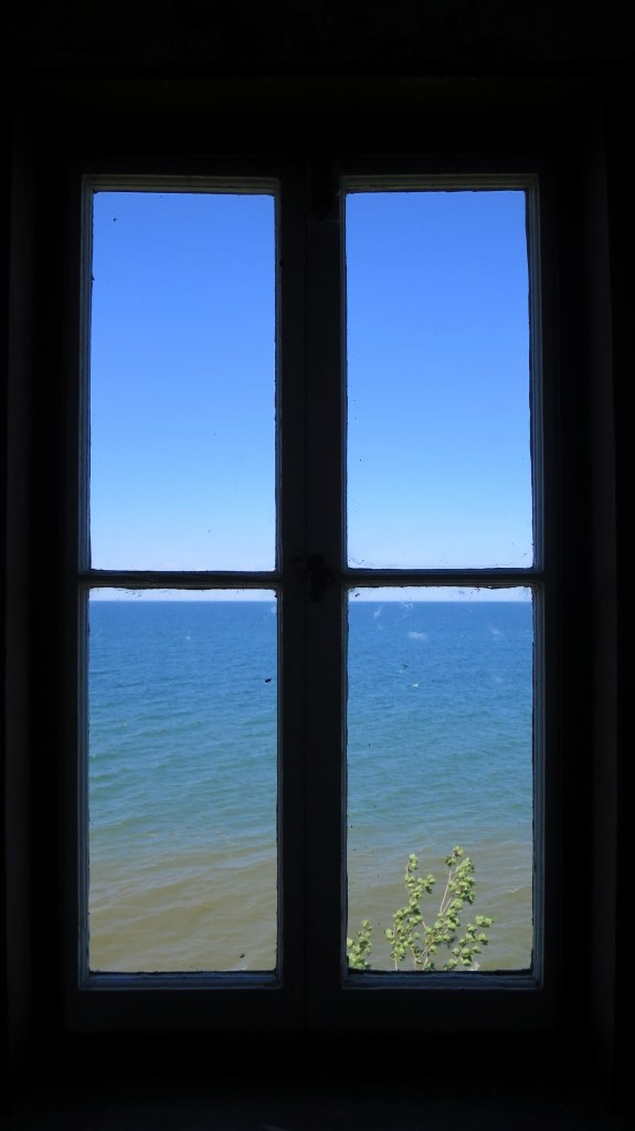 View from tower window, Thirty Mile Point Lighthouse, Golden Hill State Park, New York