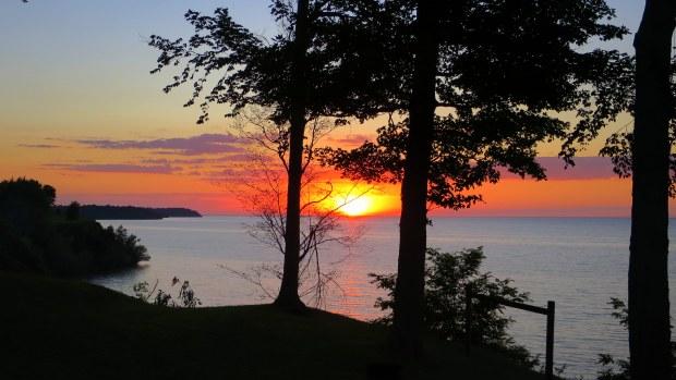 Sunset over Lake Ontario, New York