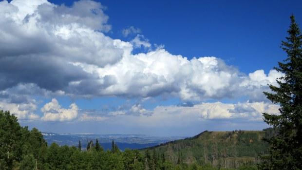 Looking north, Fishlake National Forest, Utah