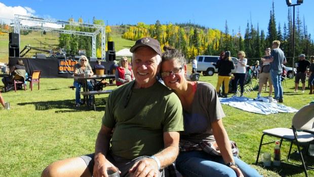 Tom and I at Oktoberfest, Brian Head, Utah