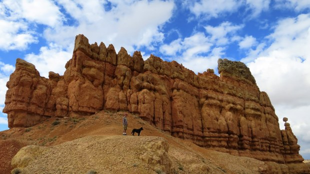 Tom and Abby, Golden Wall Trail, Red Canyon, Dixie National Forest, Utah