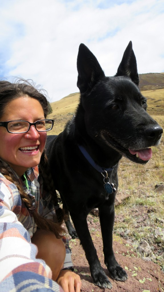 Abbs and I near Big John Flat, Fishlake Mountains National Forest, Utah