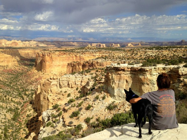 Me and The Abbadog, Ghost Rocks Viewpoint, Utah