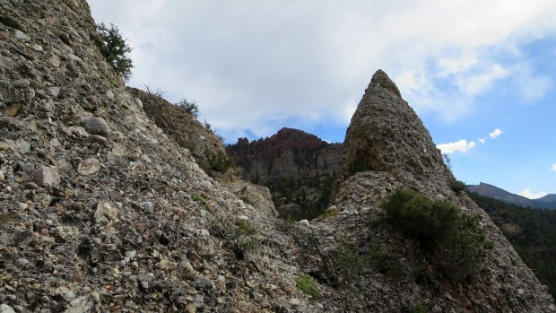Weird conglomerate formations on the Vermillion Castle Trail, Dixie National Forest, Utah