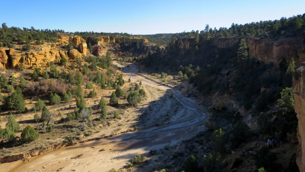 Standing on a canyon rim in Grand Staircase-Escalante National Monument, Utah