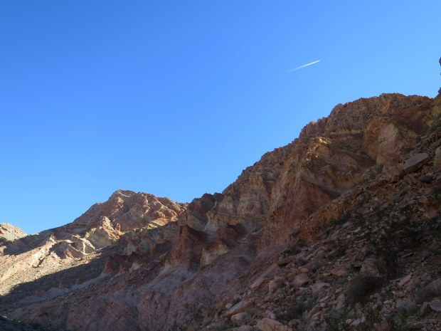 Walls of the canyon at the end of the narrows, Anniversary Narrows, Muddy Mountains Wilderness, Nevada