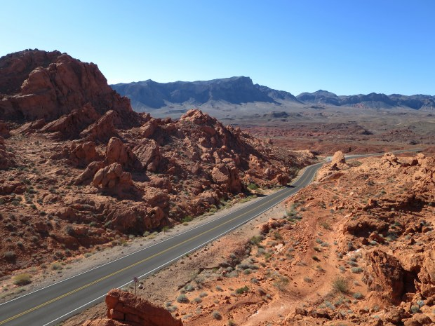 Looking down from near Elephant Rock, Valley of Fire State Park, Nevada