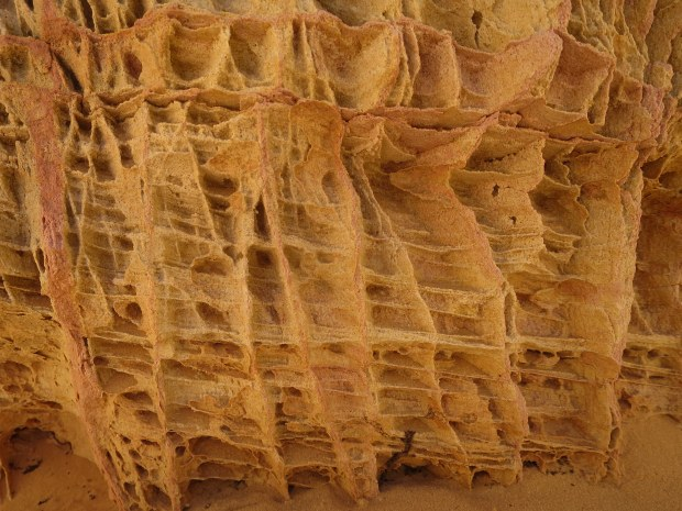 Erosion of sandstone on White Domes Loop Trail, Valley of Fire State Park, Nevada