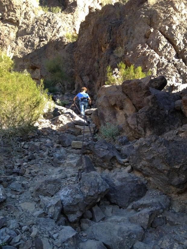 Me hiking, Hunter Trail, Picacho Peak State Park, Arizona