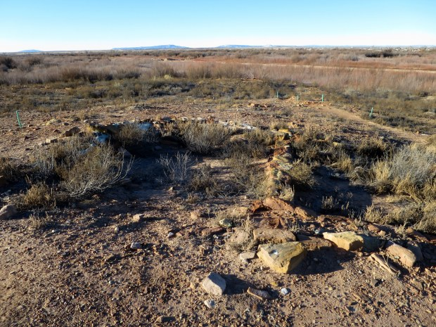 Unexcavated rooms in the north pueblo of Homol'ovi I, Homol'ovi State Park, Arizona