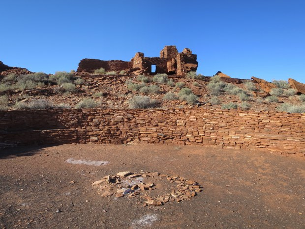 Inside the kiva at Wupatki Pueblo, Wupatki National Monument, Arizona