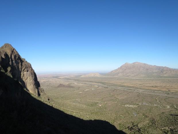 Views while hiking up to the saddle, Hunter Trail, Picacho Peak State Park, Arizona