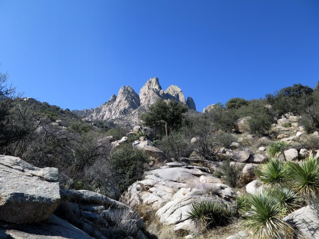The view going back up the mountains, Baylor Pass Trail, Organ Mountain-Desert Peaks National Monument, New Mexico