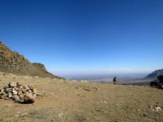 Back at the pass, Baylor Pass Trail, Organ Mountain-Desert Peaks National Monument, New Mexico