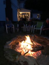With guests around the campfire
