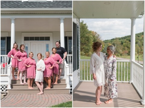 Alaina with bridesmaids - Alaina with her mom