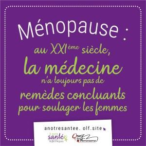 Visuel : Ménopause : au XXie siècle la médecine n'a toujours pas de remèdes concluants pour soulager les femmes