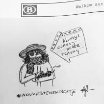 Always classy, never trashy #noukiestekeningetje, nmbs, train, doodle