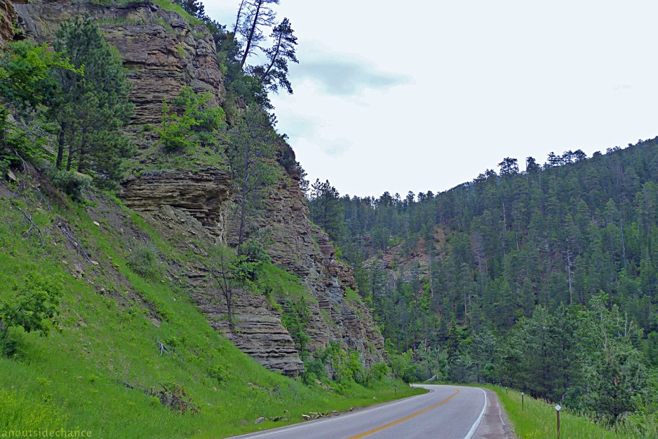 The Spearfish Canyon road, in the northern Black Hills. June 27, 2014.