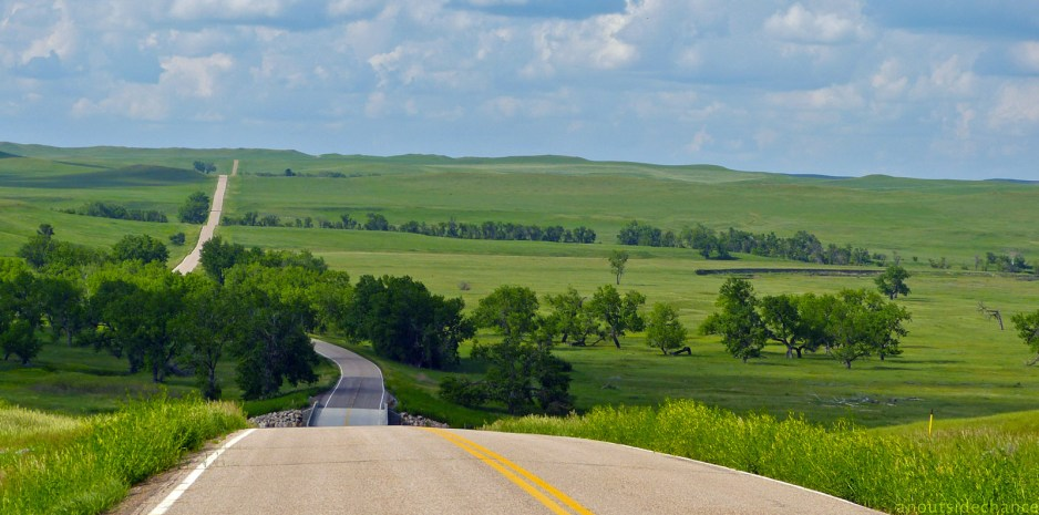 White Butte Road near Bison, South Dakota. June 16, 2014.