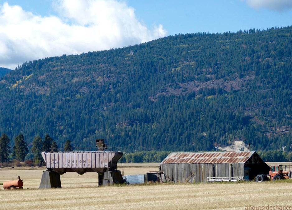 Wheat farm west of Bonners Ferry, Idaho.