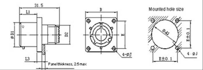 MIL-DTL-38999 SERIESⅠCIRCULAR ELECTRICAL CONNECTOR series