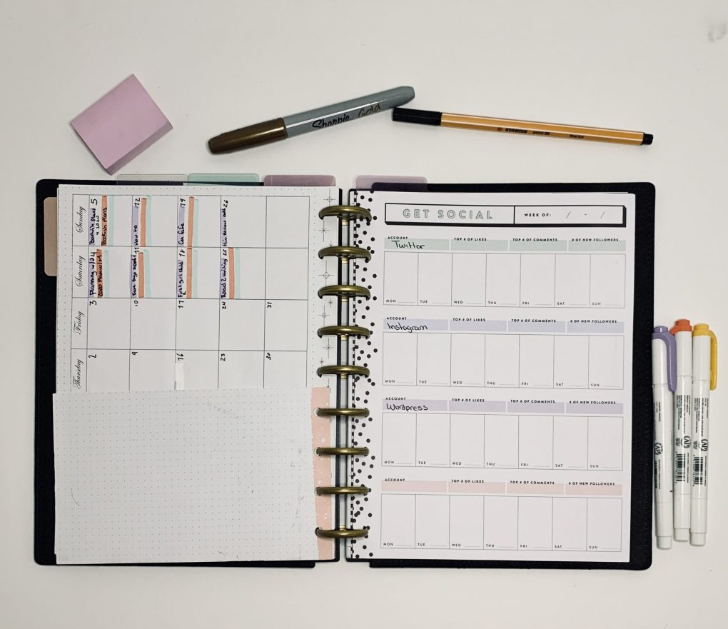Get Social Inserts from Happy Planner
