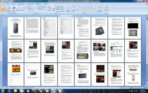 Screen cap of report in progress