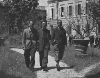 Al centro Bruno Pincherle con Renzo Bonfiglioli alla sua sinistra