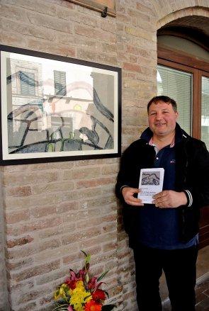 """Claudio Staffolani, autore del quadro """"La Luce della Casa verde"""""""
