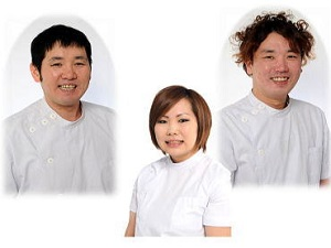 あんり治療院の3人のスタッフ