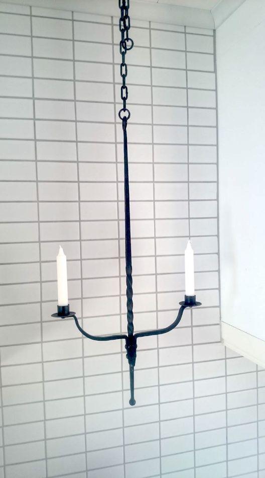 EH Svets & Smide, hängande ljusstake.