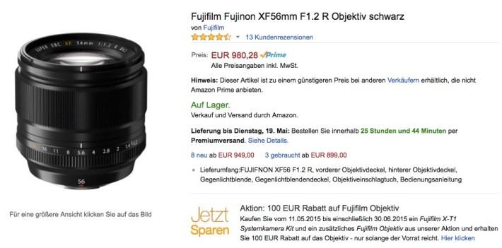 amazon.de Fuji XF 1,2/56mm
